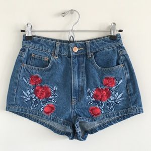 H&M Shorts - H&M x Coachella High-Rise Embroidered Shorts 4